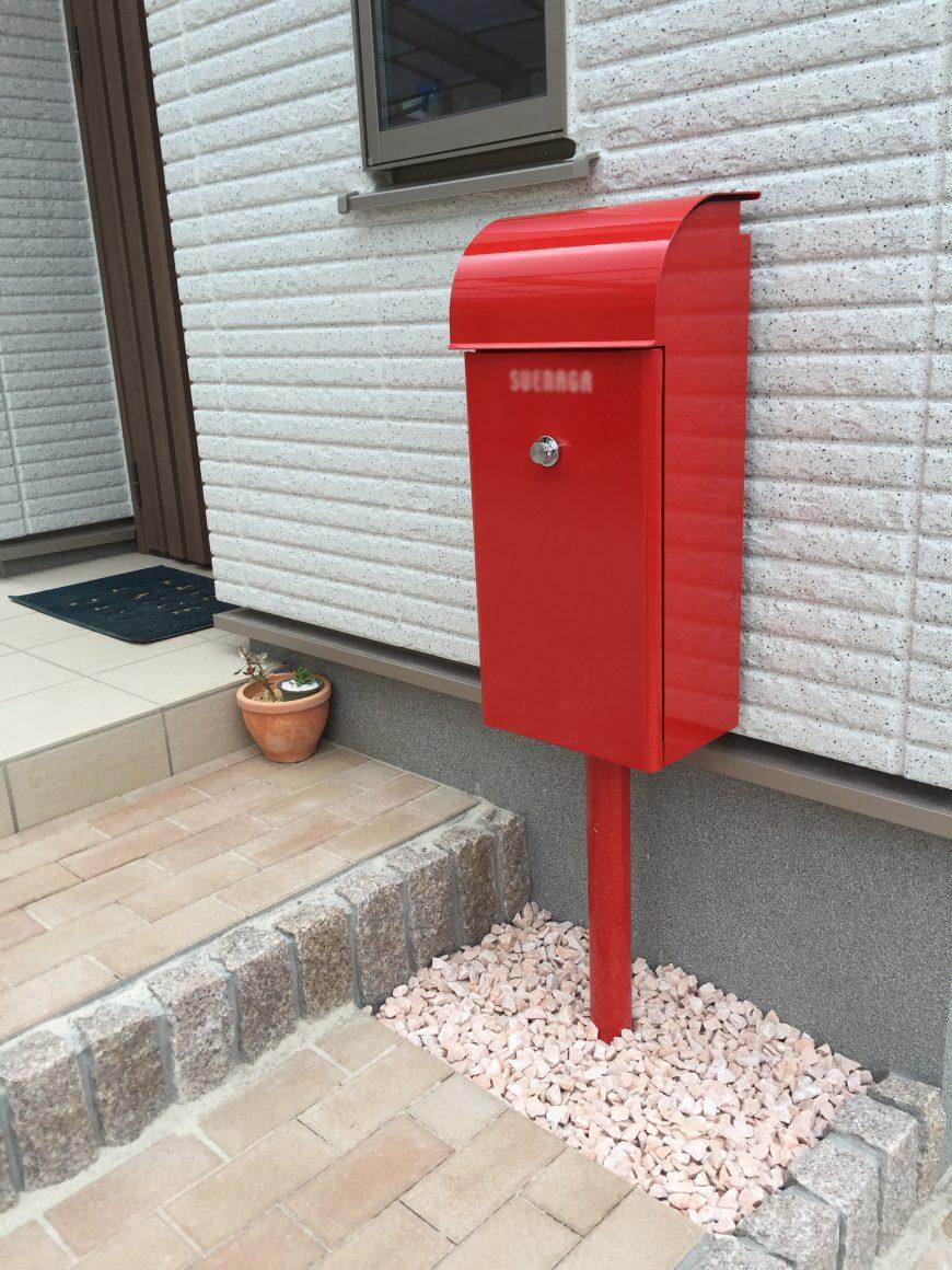 ■赤いポストがポイント!オープンスタイル■